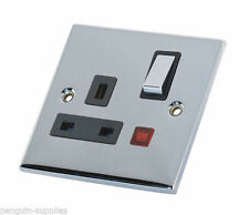 Polished/Mirror Chrome 1-Gang Electrical Home