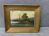 Antique Late 19th / Early 20th Century Chalk / Pastel Landscape Drawing