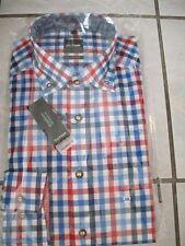 Olymp Hemd Trachtenhemd Modern Fit blau/rot - Grösse 42 - Neu / OVP