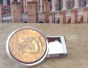 Dolan Bullock kennedy half dollar Coin Money Clip in Sterling Silver 1979
