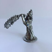 Spoontiques Pewter Figurine Wizard Blowing on Dragon Horn by HMR1501