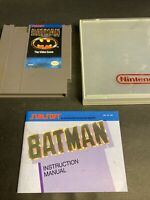 Batman The Videogame NES With Manual And Plastic Case