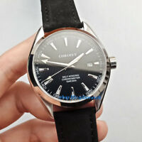 41mm corgeut WristWatch black Sapphire crystal Automatic mens Watch Mechanical
