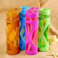 580ml Unisex Drinking Bottle Cups Sports Travel Portable Straw Water Bottles Mug