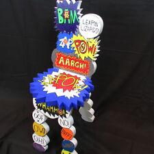 POP ART After Dubuffet Comic book batman Chair chaise artist S.R. Tyler Warhol