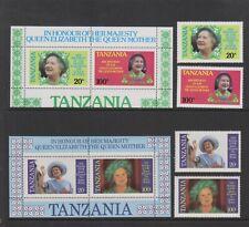 Tanzania - 1985, Life & Times of Queen Mother set & sheet- MNH - SG 425/8, MS429