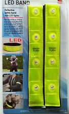 LED Band 2er Set Reflektierendes Sicherheitsband mit LED Beleuchtung