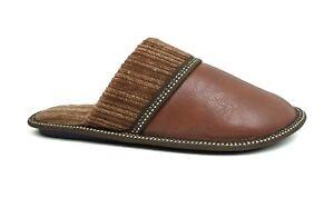 New Men's Classic PU   Knitting House Slipper Durable Rubber Bottom House Shoe
