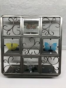 PartyLite Butterfly Tea Light Candle Holder - Holds 3 Candles