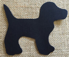 Fabric Iron on Black Dog- Bunting Making - Personalisation