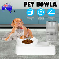 Pet Bowl Bowls Stand Cat Dog Feeder Food Water Drinking Fountain Automatic AU