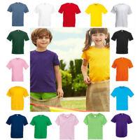 Kids Boy Girl Cotton Summer Short Sleeve T Shirt Childrens School Plain Tops Tee