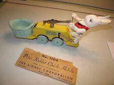 Lionel prewar wind up Peter Rabbit hand car; floor-play  model, w/ partial box,