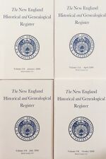 2000 New England Historical and Genealogical Register, Lot of 4, Complete Year