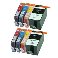 8 NONOEM 920XL INK CARTRIDGES for HP 920XL OFFICEJET 6000 6500 6500A 7000 7500A
