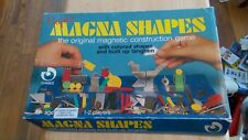 vintage Regev Games Super Magna Shapes the original magnetic construction game