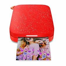 HP Sprocket Portable Photo Printer 2nd Edition - Cherry Tomato   Brand New  