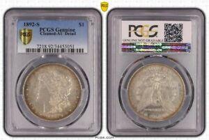 United States 1892 s $1 dollar Morgan pcgs genuine au details scarce this nice