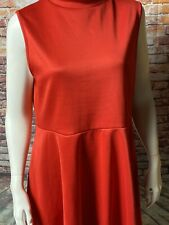 LOVE CHESLEY JUNIOR'S RED KNIT SLEEVELESS HIGH LOW DRESS    SIZE 1X