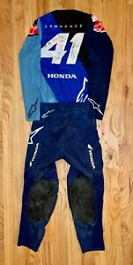 Hunter Lawrence Autographed Race Worn Jersey & Pants from 2021 Atlanta-1 SX