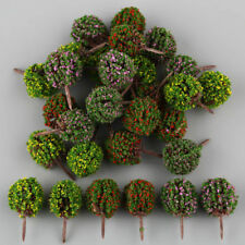 30 Mix Flower Ball Tree Model Train Garden Park Diorama Scenery 1/100 HO Layout