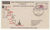 New Zealand 1953 London to Christchurch AIR RACE official Souvenir Cover