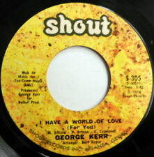 GEORGE KERR 45 I Have A Word Of Love / Look What... SHOUT label SOUL R&B c1947