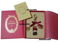 New Ver. LADUREE Keychain Ring Macaron Eiffel Tower Charm in Gift Box Red MARK'S