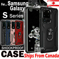 For Samsung Galaxy S20 FE Ultra S20+ Plus Case Heavy Duty Magnetic Ring Cover