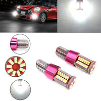 2 X T10-3014-57SMD Bright LED Canbus Error Free Car Wedge Light Bulb Lamp White