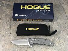 """Hogue X1 Microflip 2.75"""" Folding Knife Drop Point Blade Matte Grey 24172"""