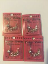 Body Zone Body Jewelry For Belly Rings Shooting Star ~lot of 4