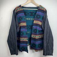 Woolrich Vintage Womens Button Front Cardigan Size XXL Aztec Southwest Wool M4