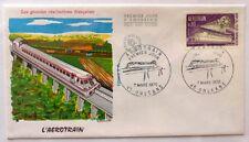 1970 France Stamp FDC 'L'Aerotrain' FR-504.