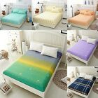 1pc Flora Color Fitted Sheet Twin Full Queen King Cotton Bed Sheet Cover 3 Size