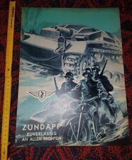 Plakat - Poster Zündapp KS 750 Deko Wehrmacht Germany WK2 WW2 Jagdpanzer Hetzer