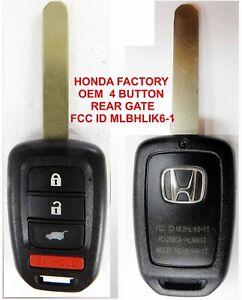 OEM HONDA UNCUT KEY CR-V HR-V 35118-T0A-A30 CRV HRV FOB GATE REMOTE MLBHLIK6-1TA