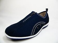Spring Step Womens Racer Slip-On Zip Shoes  Navy Size 41W( US;9.5-10)