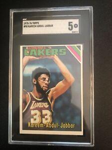 1975 Topps KAREEM ABDUL-JABBAR #90 SGC 5 - 1st Card in Laker Uniform! (Not PSA)
