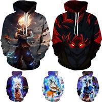 US Dragon Ball Z Goku Vegeta Gohan Super Saiyan Hoodie 3D Print Pullover Swea hJ