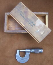 New Listingvintage Brown Amp Sharpe No 225 0 12 Micrometer Withwood Box