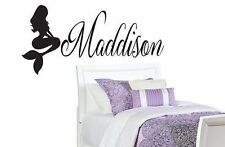 PERSONALIZED NAME MERMAID Girls Vinyl Wall Art Decal Kids Children Nursery Room