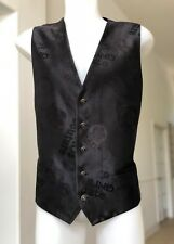 VERSACE Chaos Couture black silk men's vest from 2005, Chaos Couture collection