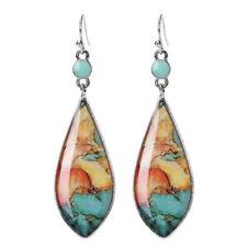 6pairs/set White Fire Opal Ear Studs Earrings Drop Dangle Weddings Jewelry U G3