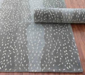 New Brand 5 x 8 Antelope Gray Handmade Contemporary Style Woolen Rug & Carpets