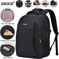 Black Gray Men Women Outdoor Travel Bag Waterproof School Laptop Bag Backpack