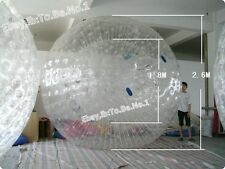 NEW 2.6M Inflatable Zorb ball Zorbing Human Hamster ball Hydro Zorb 1.0MM