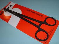 Dr Slick 8 inch Long Range Clamp Black Straight Hemostats Fly Fishing Clamps C8B