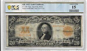 1922-TWENTY DOLLAR  GOLD CERTIFICATE.
