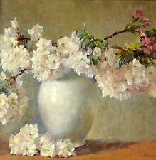 Cherry Blossom Reproduction Painting by Valeri Chuikov Framed